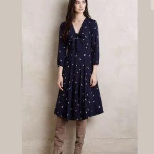 Anthropologie Tylho Acadie Tie Front Dress XL